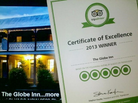 Excellent Yass accommodation TripAdvisor Certificate of Excellence