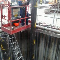 Piling for a Pump Station floor.