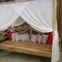 Four Poster Teak Daybed