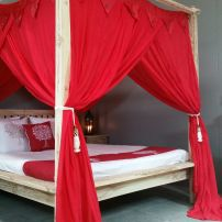 Balinese Exotic Red King Size Mosquito Net