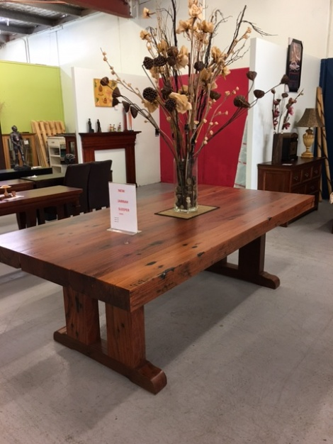T10 JARRAH SLEEPER TABLE