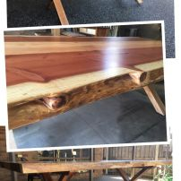 T05 DINING TABLE WITH LIVE EDGE