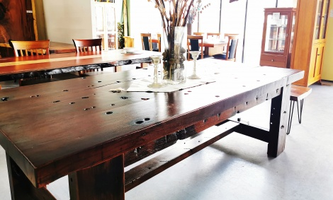 T18 SHIP TIMBER  DINING TABLE
