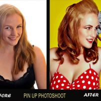 Pinup shoot: before and after