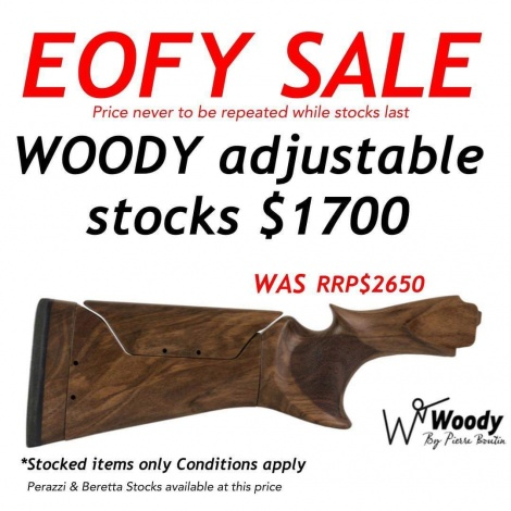 Shoot Off woody adjustable stock