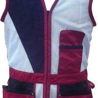 Collumbo Shooting Vest in Red and Black