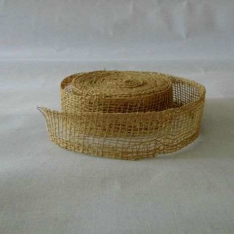 Rough weave hessian ribbon
