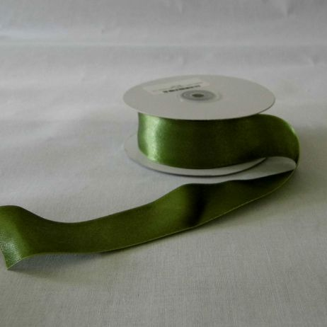 Moss green satin ribbon.