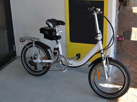 "20"" Step-Thru Electric Folding icycle"
