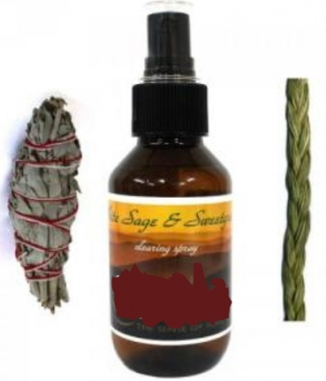 white sage spray with sweetgrass