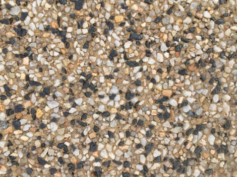 Exposed aggregate sandstone base design
