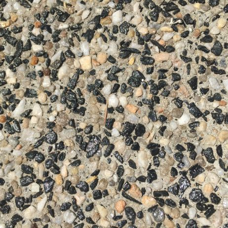exposed aggregate 50/50 grey base
