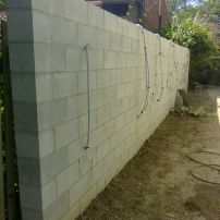 Boundary wall with lights