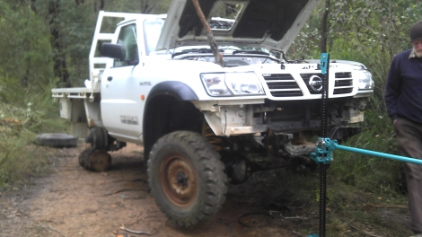 GU UTE RECOVERY - drowned & stripped!