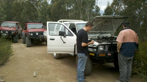 Blown up Hilux Recovery