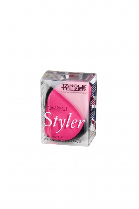 Step 1 Detangling Tangle Teezer Compact Styler - Pink Sizzle