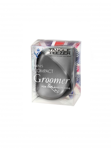 Step 1 Detangling Tangle Teezer Compact Styler -  Men's Groomer Matt Chrome