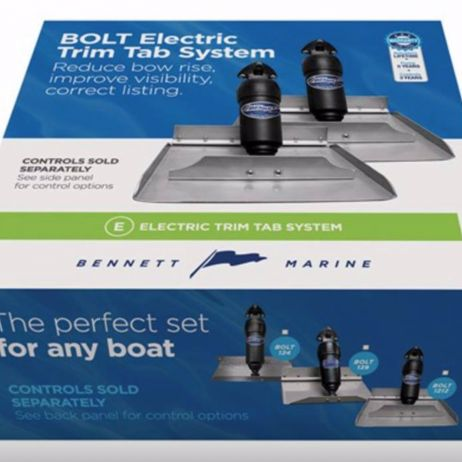 BENNETT MARINE BOLT ELECTRIC EDGE MOUNT LIMITED SPACE TRIM TAB KIT - BOLT612ED - 6'' x 12'' Electric