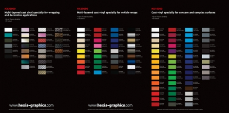 Hexis Colour Chart