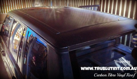 Carbon Fibre Vinyl Wrap - ROOF
