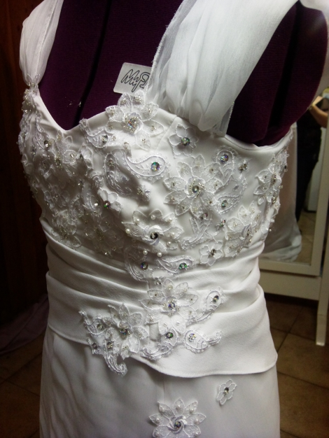 wedding dress modification