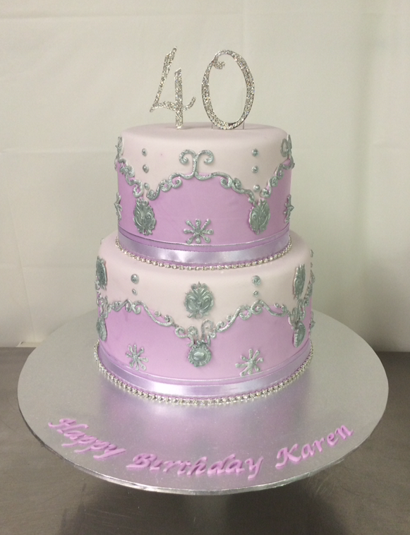wedding cake silver and purple purple and silver cake s heavenly cakes 24550